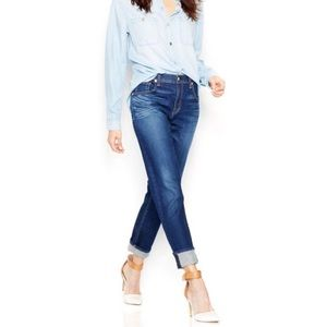7 for all Mankind high rise relaxed skinny jeans